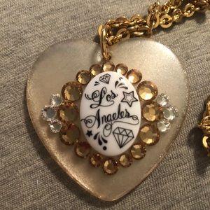 Tarina Tarantino Los Angeles rhinestone necklace